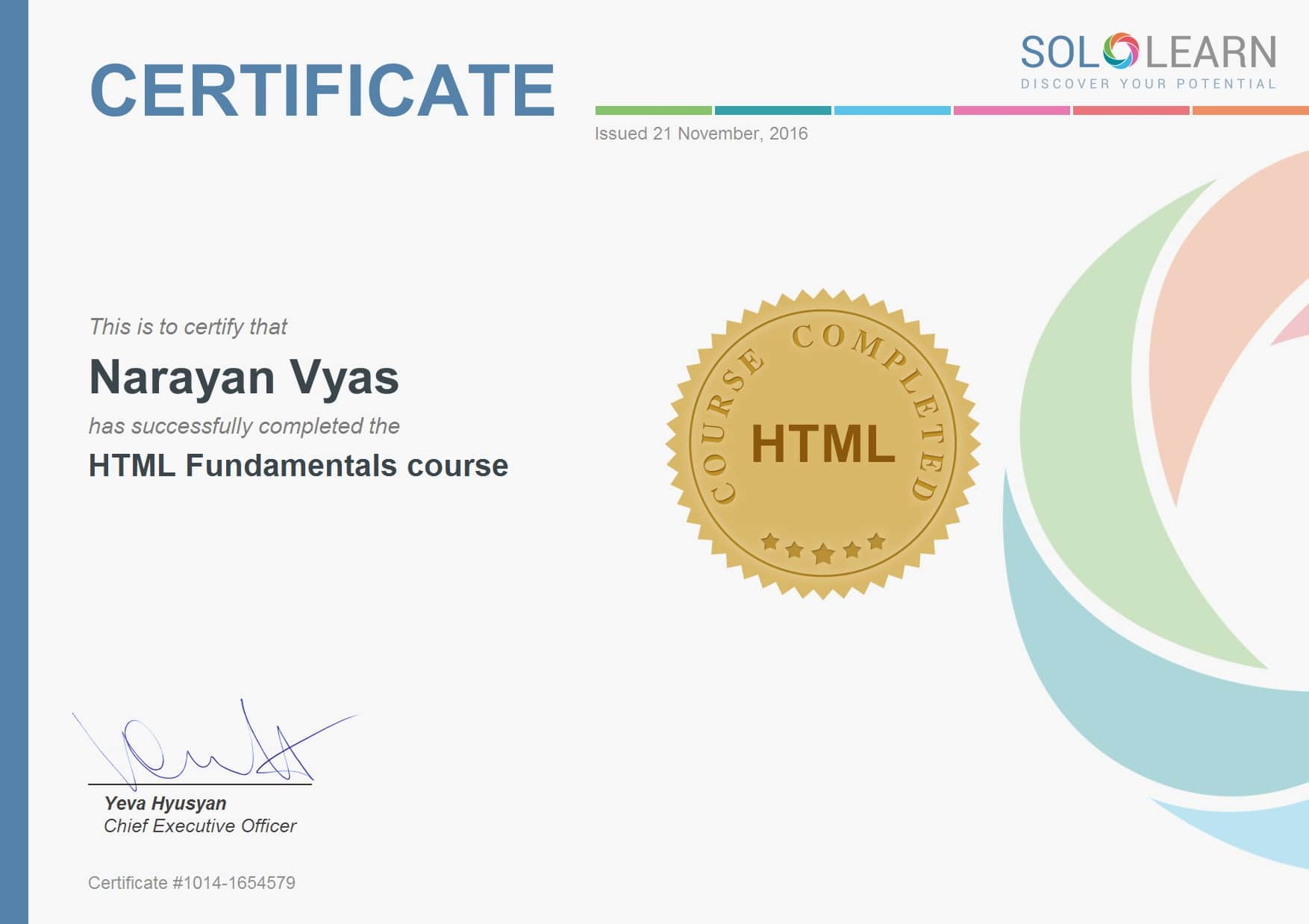 Sololearn HTML Fundamental