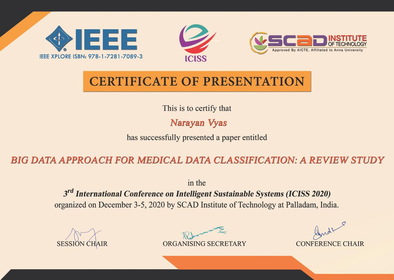 IEEE Conference Certificate